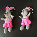 Coelho macio do luxuoso cor-de-rosa/brinquedo macio reflexivo do coelho