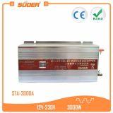 Omschakelaar van de ZonneMacht van Suoer 12V 220V 3000W de Slimme (sta-3000A)