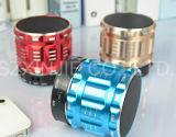 S28 Mini Haut-parleur stéréo portable en métal avec fonction d'appel mains libres Bluetooth LED haut-parleurs avec radio FM