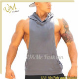 Kundenspezifische Mens-BaumwollSleeveless Gymnastik Vset Hoodie Umhüllungen-Sweatshirt-Kleidung