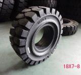 500-8 neumático sólido de la carretilla elevadora, neumático industrial sólido 5.00-8 con el alto funcionamiento de Qulaity