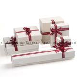 Caja hecha a mano clásica popular de la joyería del rectángulo de joyería del papel hecho a mano