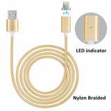 AppleのiPhoneのための編みこみの磁気電光USBの充電器の充満ケーブル
