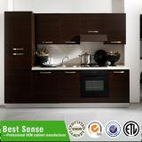 A melhor noz da madeira contínua da alta qualidade do sentido, gabinetes de cozinha