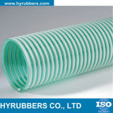 Boyau tressé de PVC de fil d'acier ou de fibre d'aspiration flexible