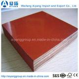Le film rouge de pente de construction a fait face à la taille 1220X2440mm de contre-plaqué de peuplier
