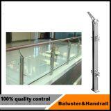 Het Traliewerk van het Glas van het Balkon van het roestvrij staal/de Balustrade van het Balkon van het Glas met de Norm Van uitstekende kwaliteit
