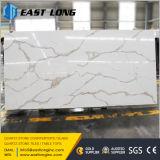 Artificial Calacatta Pedra de quartzo para laje / bancada / Material de construção Whih Solid Surface