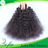 100%UnprocessedインドのCurly Virgin Hair Remy Human Hair Extension