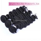 ねじれたカーリーヘアーの織り方のブラジルのバージンの人間の毛髪の拡張