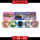730PCS/кристаллический набор микросхем покера типа экрана с в алюминиевым набором микросхем казина случая для 5-10 играя в азартные игры игр (YM-SJSY001)