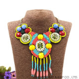 Богемский валик клея ожерелья лента моды этнического стиля одежды втулки аксессуары