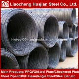 Barre d'acier laminé à chaud côtelée/ d'armature en acier pour la construction de bâtiments