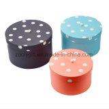 Vend les cadres ronds de chapeau d'essuie-main de cadeau emboîtés 3 par parties avec le couvercle