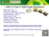 Connecteur femelle de type C USB, USB-IF NO 200000253 TID, de la durabilité : 10000 cycles, la transmission de données : 480m/S. Courant nominal : 5A MAX. Matériau du boîtier : SUS304