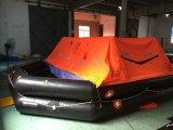 Jangada de vida inflável de lançamento do navio com solas / Med Certification