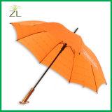 Paraplu van uitstekende kwaliteit van de Gift van de Bevordering van de Lage Prijs de Auto Open Rechte met Houten handvat