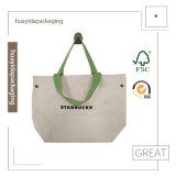 Sac d'emballage de toile de sac de traitement de loisirs d'achats d'Eco