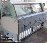 Congélateurs italiens d'affichage de crème glacée glacée de Gelato à vendre