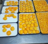 Conservas de frutas conservas Amarelo as metades de pêssegos em calda 820g
