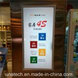 Diodo emissor de luz móvel da loja da loja da mostra de Alumunium que anuncia a caixa leve do indicador
