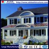 Camera prefabbricata economica e chiara del fiore della villa della struttura d'acciaio