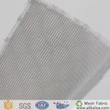 Um worm de seda transparente Poly1676 Gut sanduíche padrão de tecido de malha de malha da China Fabricação