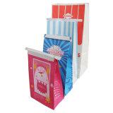 Enlever le papier Kraft sac d'épicerie avec fenêtre, sac de transport papier alimentaire, sac de pop-corn
