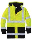 Встреча En/ANSI куртки безопасности визави желтого цвета гриппа Hi