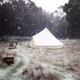 Im Freien feuerfester Winter-Partei-Import-kampierendes Armee-Segeltuch-Zelt