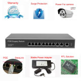 11 Port Poe Rack-Mount 10 / 100Mbps Poe Switch com 8 Port Fe Poe e 3 100m Uplink Internal Power