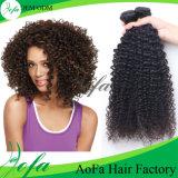 100% 처리되지 않은 브라질 Virgin 머리 비꼬인 곱슬머리 사람의 모발 연장