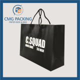 Black di lusso Kraft Paper Bag con Twist Handle (CMG-MAY-032)