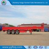 La norme ISO9001/l'essieu en acier au carbone certificat CCC 3 ABS la paroi latérale en acier au carbone semi remorque de camion à Twist Lock
