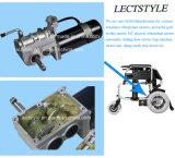 24V motor dejado y derecho de 250W del engranaje del sillón de ruedas con la palanca del regulador y de la palanca de mando