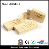 Azionamento di legno Cuboid del USB (USB-WD313)