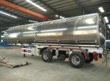 반 최신 판매 유조 트럭 트레일러 알루미늄 탱크 트레일러