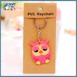 Boucle principale de PVC de trousseaux de clés de femmes de charme animal de sac