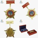 Medaglia del trofeo di Veitnam dell'epossidico della stampa dell'oro della stella del pezzo fuso di alta qualità