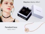 贅沢なカスタムサイズの黒のペーパー宝石類のギフトの包装ボックス
