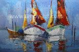 Ручная работа на лодке и морскому праву картины маслом для интерьера