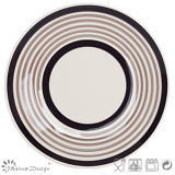 Insieme di pranzo di ceramica del cerchio dipinto a mano del Brown