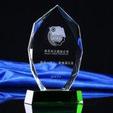 Piastra di cristallo di vetro calda alto Quliaty del trofeo con la stella