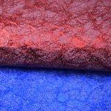 De kleurrijke Foiled Stof van de Schoen van de Zak van het Kunstleer van Faux van het Polyurethaan