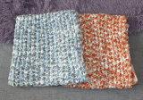Modische Frauen-Mehrfarbenplatz färbte gestrickte Schal-Schleife