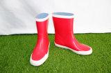 Gaines de pluie en caoutchouc de gosses rouges, gaines de pluie d'enfants, les chaussures du gosse, chaussures de la Chine