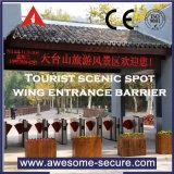 Recursos avançados de barreira de bilhete óptico de guarda-lamas de retracção e-Gate