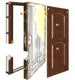 Topbright Puerta de entrada de metal de seguridad de acero inoxidable de alta calidad