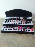3 Plank van de Vertoning van de Lippenstift van de rij de Acryl, het Rek van de Vertoning van de Lippenstift, de Kosmetische Tribune van de Vertoning