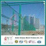 9 Anzeigeinstrument-Kurbelgehäuse-Belüftung beschichtete galvanisierte Plastikkettenlink-Zaun-Preise